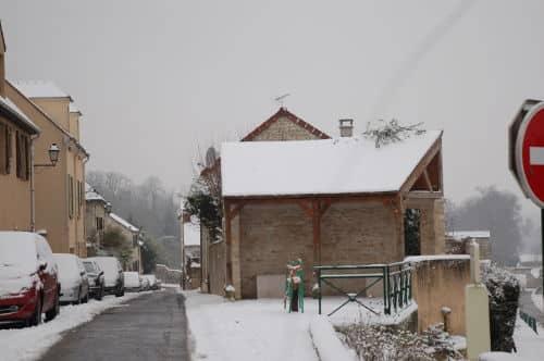 Lavoir de Grignon sous la neige - 78850 - 19/01/2013