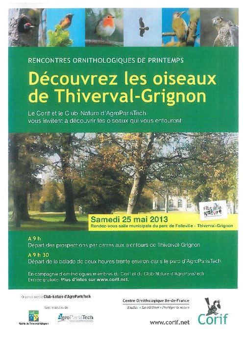 Découvrez les oiseaux de Thiverval-Grignon