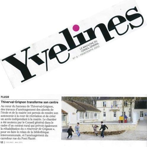 Article paru dans le magazine du conseil général des Yvelines