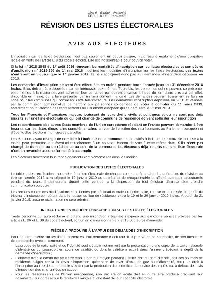 Affiche-avis-revision-electorale-2018-2019